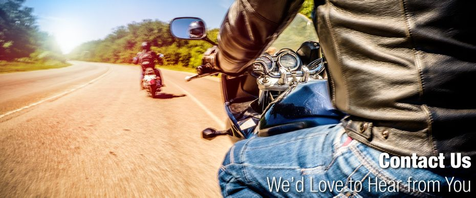 Motorcycles on the highway | Contact Us - We'd love to hear from you